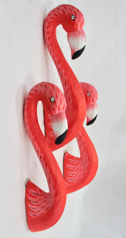 Pink Flamingo Head Faux Taxidermy Mount Wall