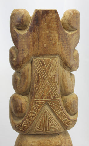 Antique Timorese Ancestor Mask Totem Figure - Acadia World Traders