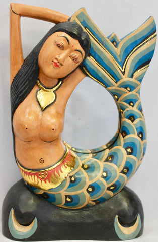 Balinese Mermaid Sea goddess Decortive Mirror - Acadia World Traders