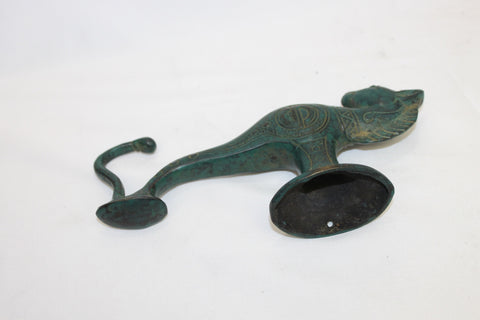 Primitive Seahorse Bronze Wall Hook Hand Cast