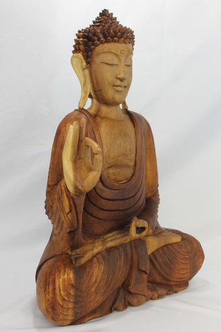 Vitarka Mudra Buddha Sculpture wood carving