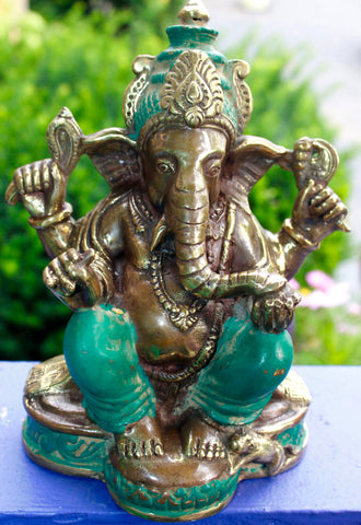 Bronze Ganesha Statue God Remover of Obstacles - Acadia World Traders