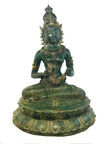 Seated Dewi Sri Bronze Statue Rice Goddess Lost wax Art Sculpture Balinese Art