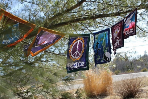 World Peace Prayer Garden Flag banner Diversity Rainbow - Acadia World Traders