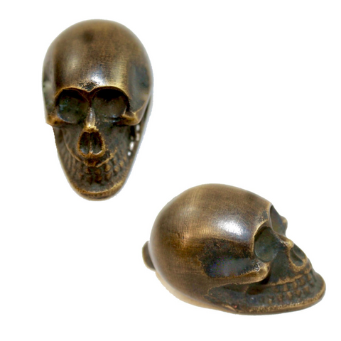Solid Brass Gothic Skull Skeleton Knob Drawer Pull Handle Hook Handcrafted Bali
