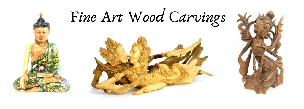 Fine Balinese wood carvings and art