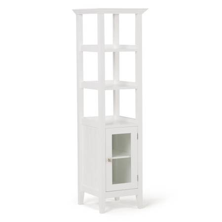 Acadian 15.8 in. W x 15.8 in. D x 56 in. H Line Cabinet Bath Storage Tower in White