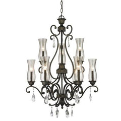 (A) Z-Lite 720-9-GB Melina 9 Light Chandelier