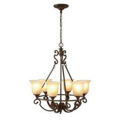 HOME DECORATORS COLLECTION 6 LIGHT CHANDELIER