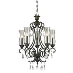 (A) Z-Lite 720-5-GB Melina 5 Light Chandelier