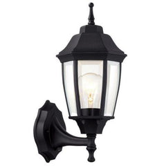 HAMPTON BAY 1-Light Black Outdoor Dusk-to-Dawn Wall Lantern