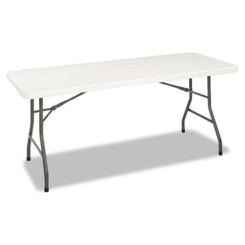 Cosco 6 Foot Blow Molded Centerfold Table 72w X 30d X 29 1 4h White