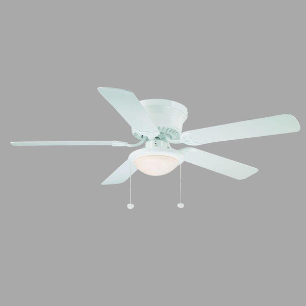 Hugger 52 in. White Ceiling Fan