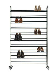 "Shoe Tower, 50PR 60""Hx36""W, CHROME"