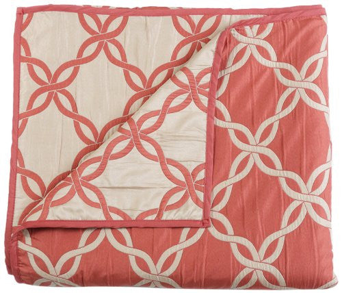 Stylemaster Home Products Renaissance Home Fashion Belmont Reversible Bedspread, Full, Coral