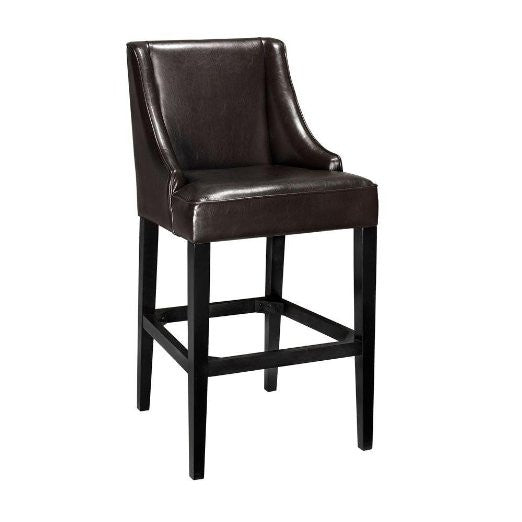 "Recycled Leather Bar Stool, 44""Hx22""W, BROWN LEATHER"