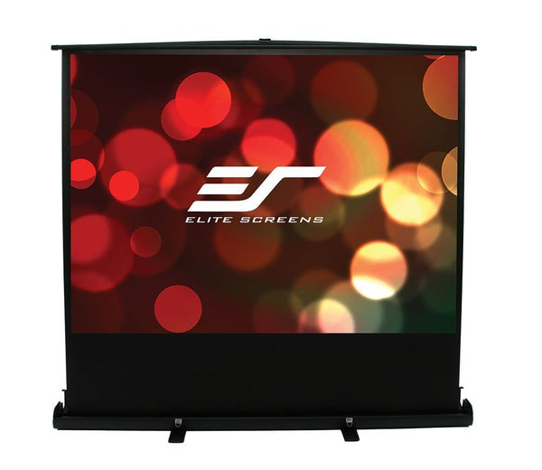 Elite Screens ezCinema Series, 80-inch 16:9, Portable Floor Pull Up Projection Screen, Model: F80NWH
