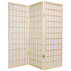 4 Feet Tall Window Pane Shoji Screen in Natural Number of Panels: 5