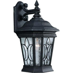 Cranbrook Collection 1-Light Gilded Iron Wall Lantern