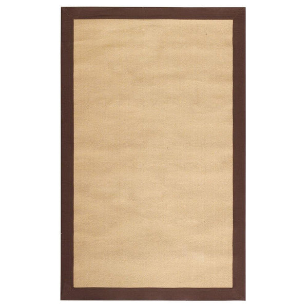 COVE RUG 9'X12' NATURAL W/BROWN BORDER