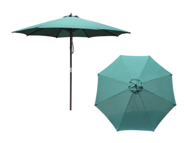 Merry Garden 9-Foot Market Umbrella with 8 Ribs Green