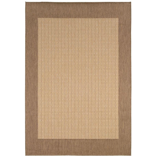 "Checkered Field Area Outdoor Area Rug, 5'10'x9'2"", NATURAL"