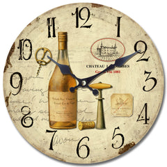 Yosemite Home Decor  Circular Distressed Wall Clock