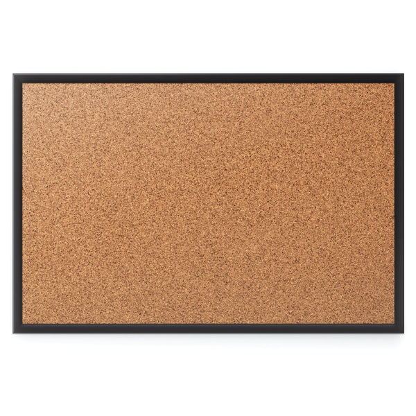 Quartet Cork Bulletin Board, 4 x 3 Feet, Black Frame (2304B)