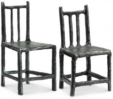 Chair Figurines - Set of 2 IRON