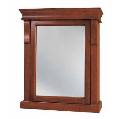 Naples 25 in. x 31 in. Surface-Mount Medicine Cabinet in Warm Cinnamon