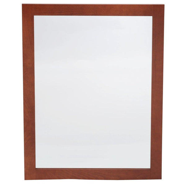 Glacier Bay Artisan 31 in. L x 24 in. W Framed Wall Mirror in Chestnut