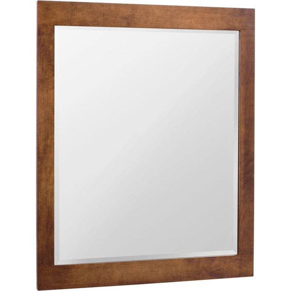 Glacier Bay Casual 35.5 in. L x 27.5 in. W Wall Mirror in Cognac