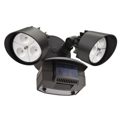 Lithonia Lighting Twin Head Bronze Motion-Sensing Outdoor LED Flood Light