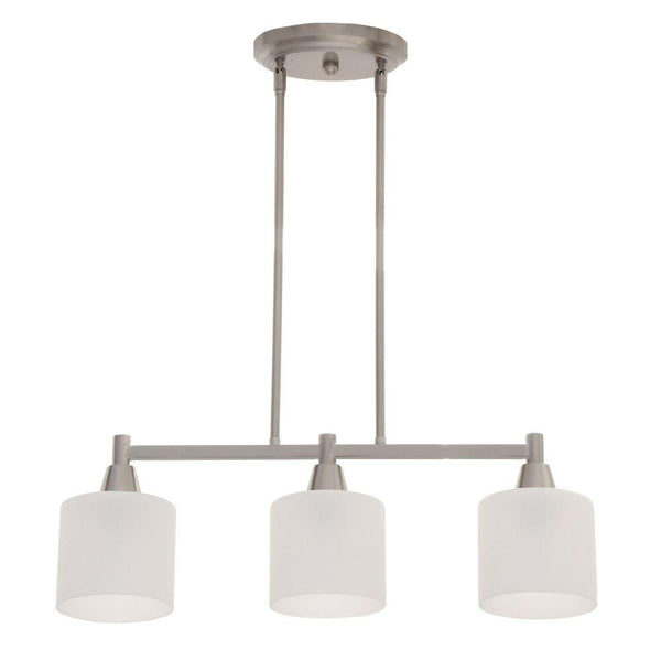 Hampton Bay Oron 3-Light Brushed Steel Island Light
