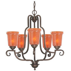 Aspen 5-Light Heritage Bronze Chandelier