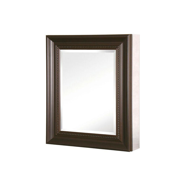 24 in. x 30 in. Recessed or Surface Mount Mirrored Medicine Cabinet with Deco Framed Door in Oil Rubbed Bronze