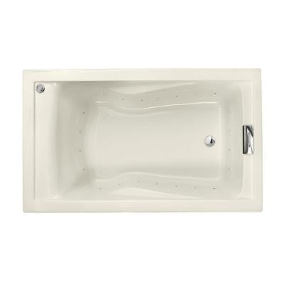 Evolution EverClean 5 ft. Air Bath Tub in Linen