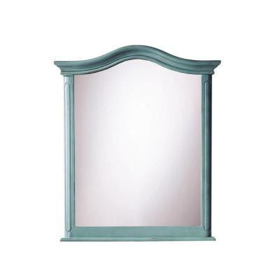 Provence 28-1/2 in. W x 33 in. L Wall Mirror in Blue