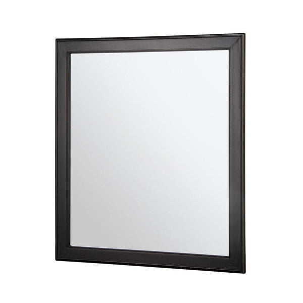 Gazette 28 in. W x 32 in. H Framed Wall Mirror in Espresso