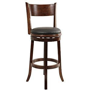 Boraam 47129 Palmetto Swivel Stool, 29-Inch, Walnut