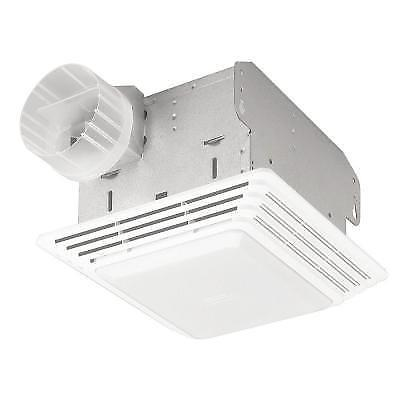 BROAN 50 CFM Ceiling Eco Exhaust Bath Fan with Light