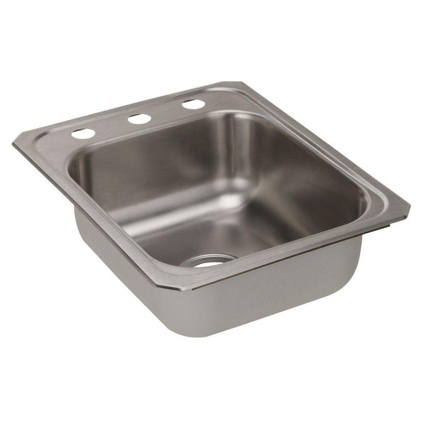 Elkay Celebrity Drop-In Stainless Steel 17 in. 3-Hole Single Bowl Kitchen Sink with 7 in. Bowl