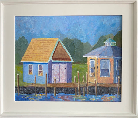 Jane Duffy - Two Boathouses
