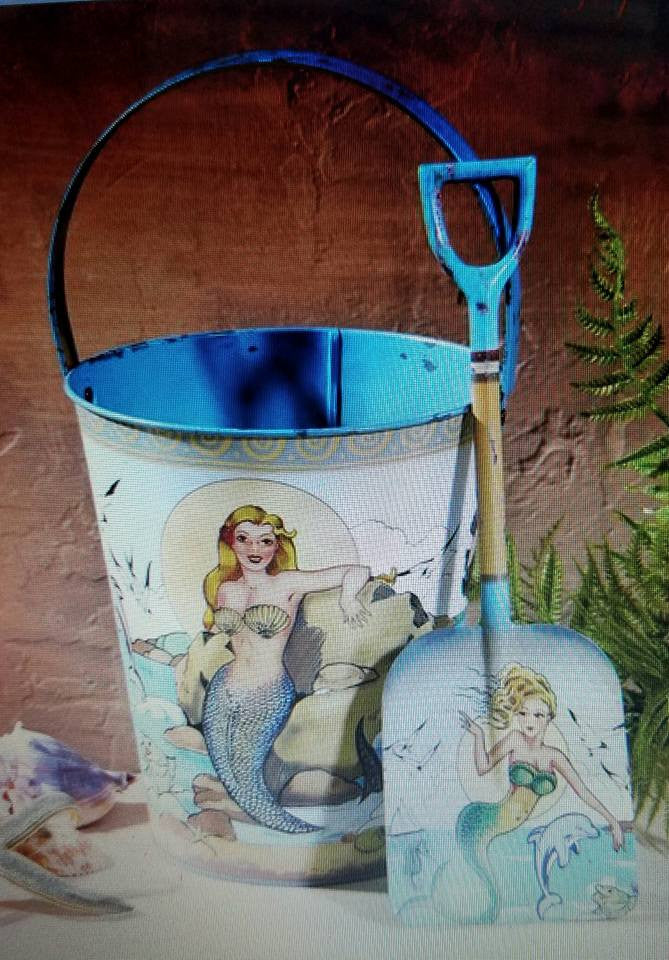 MERMAID PAIL AND SHOVEL SET * 3 Different Mermaids on Each Pail