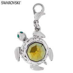 SWAROVSKI CRYSTAL SEA TURTLE CHARM!
