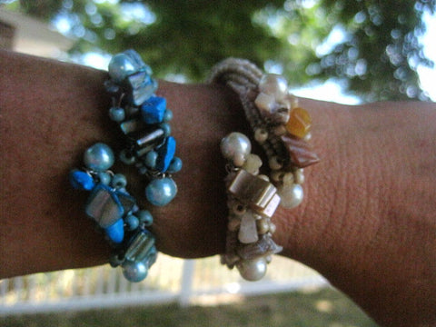 ELEGANT COASTAL WRAP BRACELET * Available in 5 Colors * BEACH WEDDING
