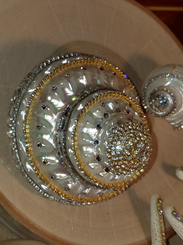 GLAMOUR SHELL with SHIMMERING RHINESTONES and Brilliant SWAROVSKI CRYSTALS
