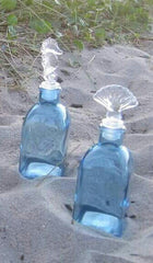 SEASHELL TOP - BLUE BOTTLE