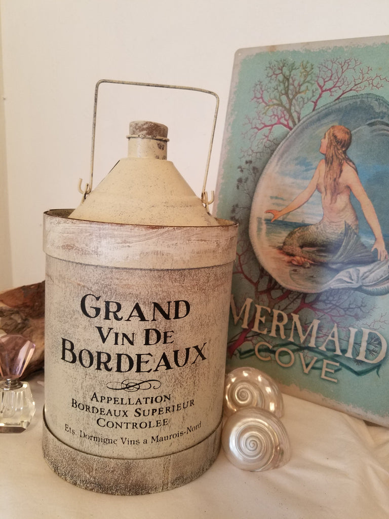 Vintage Style French Wine Jug * Elegant in a Coastal way!
