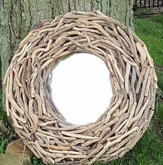 "GORGEOUS 29-30"" LARGE DRIFTWOOD MIRROR!"